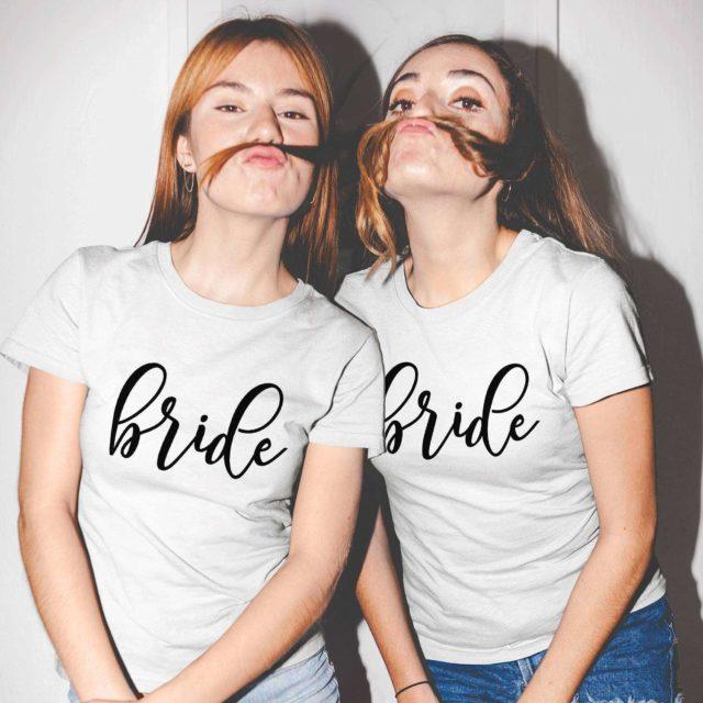 Matching Brides Shirts, Bride and Bride, Couple Shirts