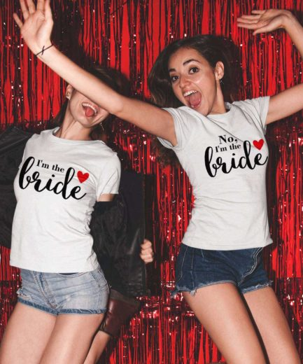 LGBT Brides Shirts, I'm the Bride, No I'm the Bride, Couple Shirts
