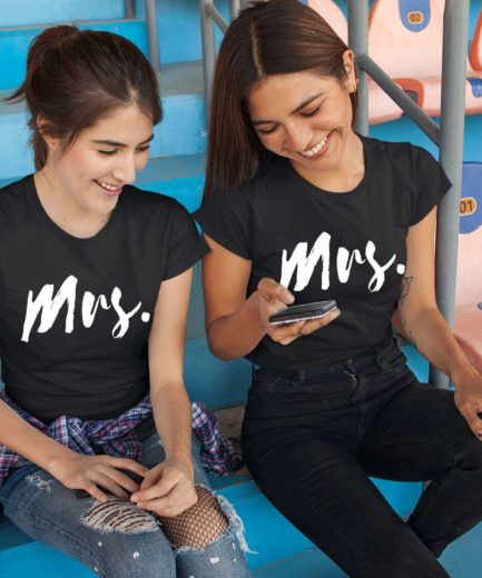 LGBT Couple Shirts, Mrs and Mrs, Couple Shirts