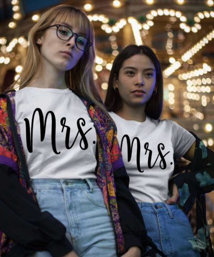 Mrs Mrs Couple Shirts, Matching LGBT Shirts, Couple Shirts