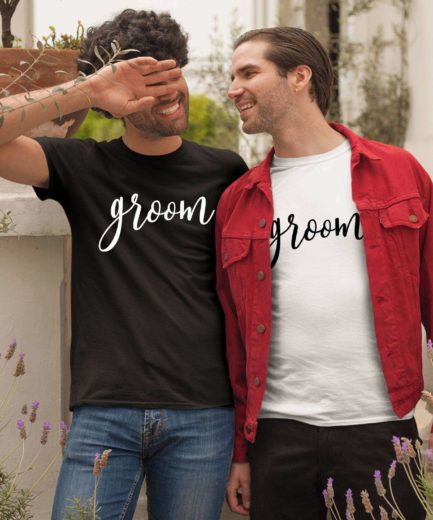 Groom Groom Shirts, Matching Couple Shirts, LGBT Shirts