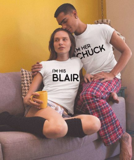 Her Chuck His Blair, Couple Shirts, Funny His Hers Shirts
