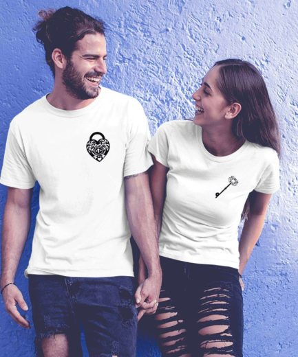Key Lock Couple Shirts, Key, Lock, Matching Couple Shirts