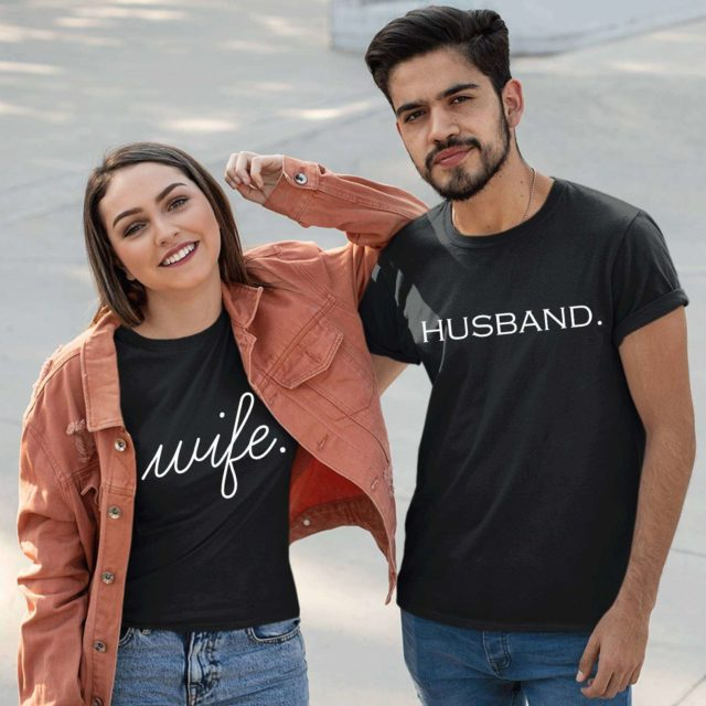 Husband Wife Shirts, Couple Shirts, Just Married Couples Shirts