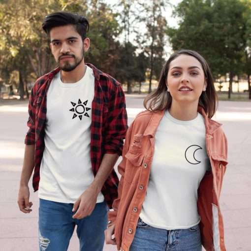 Moon and Sun Couple Shirts, Matching shirts, Gift for couples