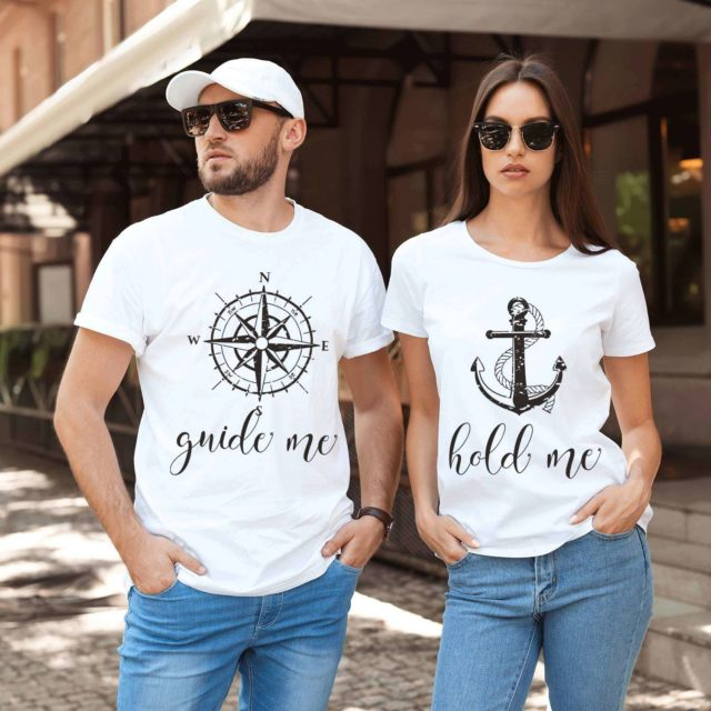 Guide Me Hold Me Shirts, Matching Couple Shirts, Gift for couple