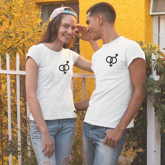 Gender Signs Shirts, Male/Female, Couple Shirts, Matching Gender Signs Shirts