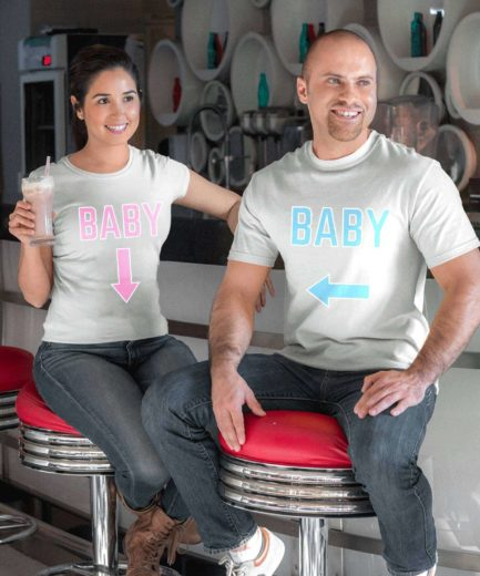 Maternity Baby Shirts, Baby Pointed Arrows, Funny Couple Shirts
