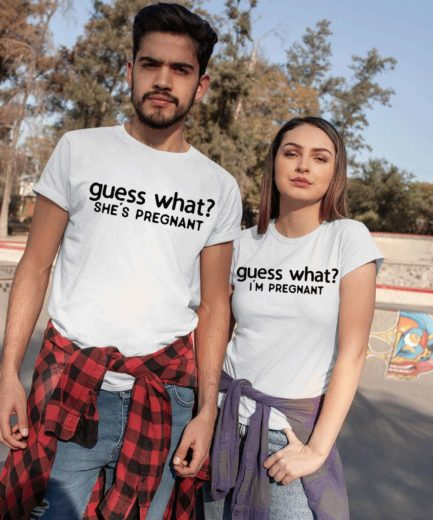 Guess what I'm Pregnant, Guess What She is Pregnant, Couple Shirts
