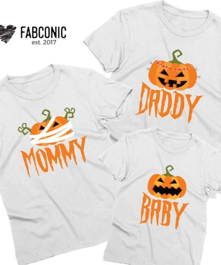 Mommy Daddy Baby Pumpkin, Halloween Family Shirts