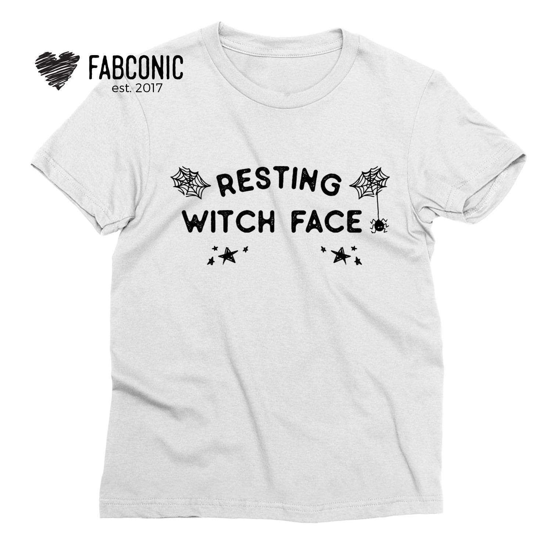 30359c4e52 Resting Witch Face Shirt, Halloween Shirts, Funny Halloween Womens Shirt