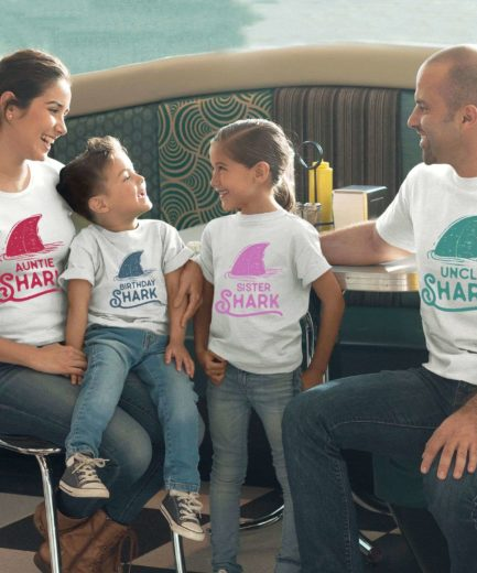 Birthday Shark Aunt Uncle Shark, Pastel Sharks, Family Shirts