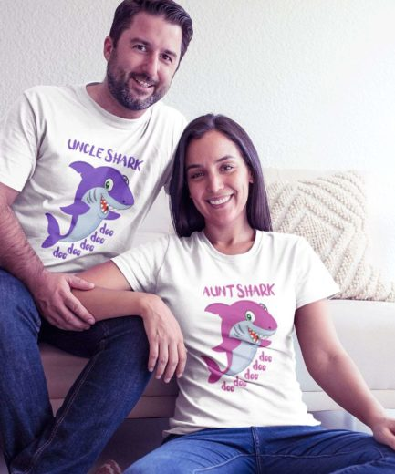 Auntie Uncle Shark, Shark Family, Matching Family Shirts