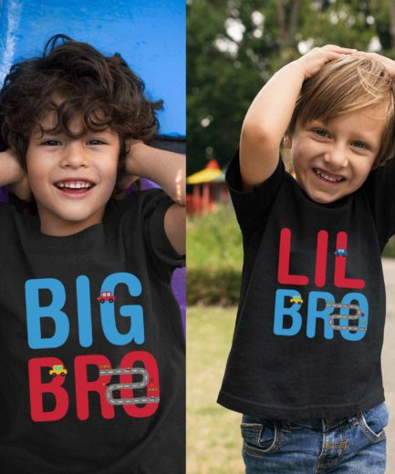 Big Bro Lil Bro Shirts, Racing Cars, Big Sis Lil Sis, Siblings Matching Shirts