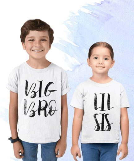 Big Bro Lil Sis Shirts, Textured Design, Big Bro Shirt, Lil Sis Shirt, Siblings Shirts