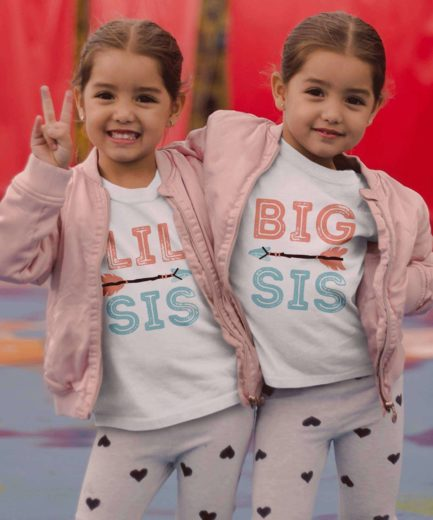 Sisters Shirts, Big Sis Lil Sis, Boho Arrows, Siblings Shirts, Gift Idea for Sister