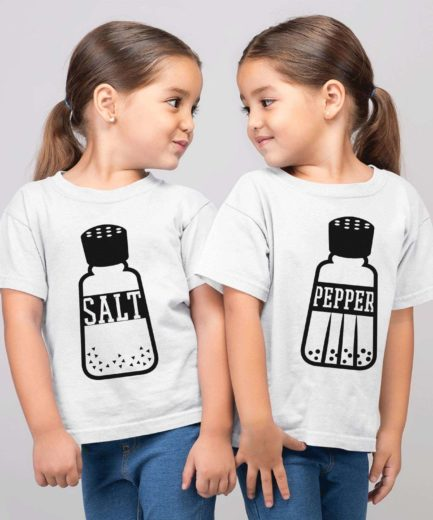 Funny Sibling Shirts, Salt Pepper Kids Shirts, Family Shirts