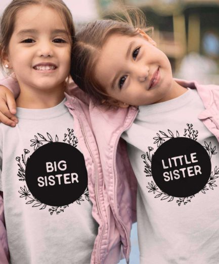 Big Sister Little Sister Shirts, Sister Shirts, Matching Siblings Shirts
