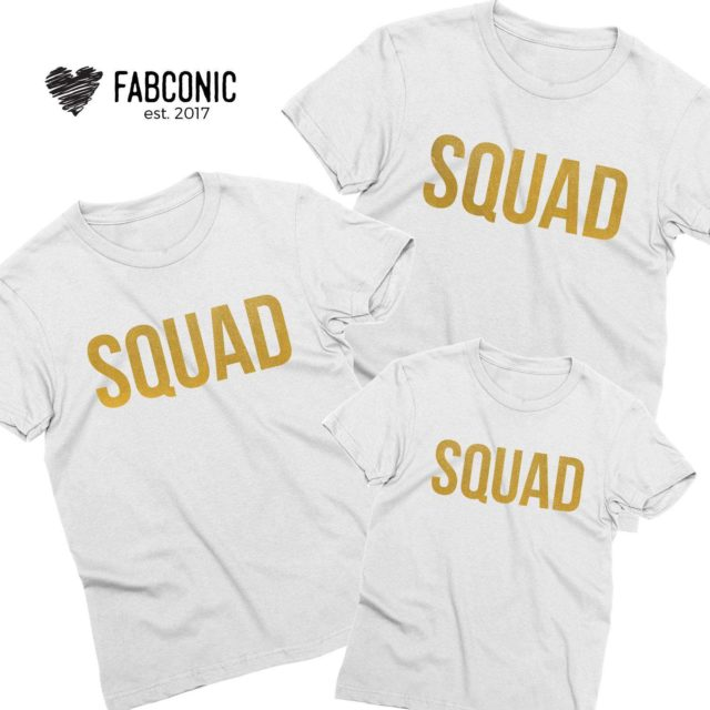 Squad Family Shirts, Funny Family Outfit, Matching shirts for Family
