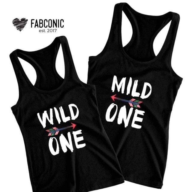 Mild One Wild One Tanks, Best Friends Tank Tops, BFF Tanks