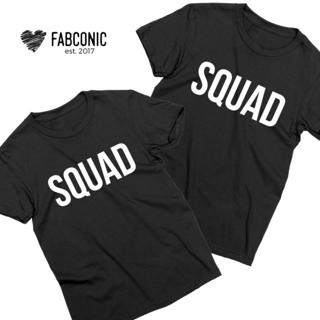 Squad Couple Shirts, Matching Couple Shirts, Squad Shirts