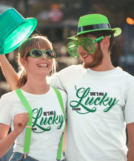 Lucky Charm Shirts, Matching St. Patrick's Day Couple Shirts