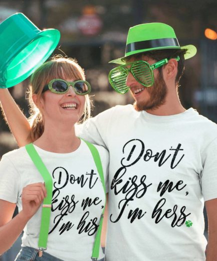 Couple St. Patrick's Day Shirts, Don't Kiss Me Irish Shirts