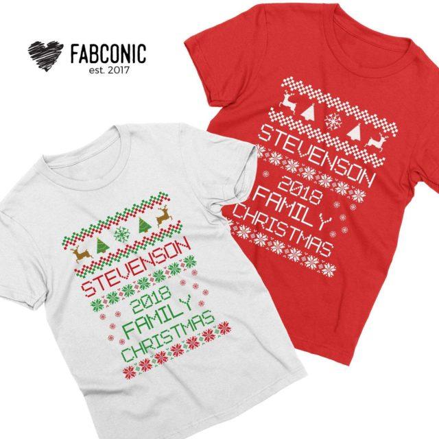 Custom Name Christmas Shirts, Family Christmas Shirts