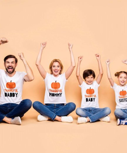 Thankful Family Shirts, Daddy Mommy Brother Sister Baby, Family Shirts