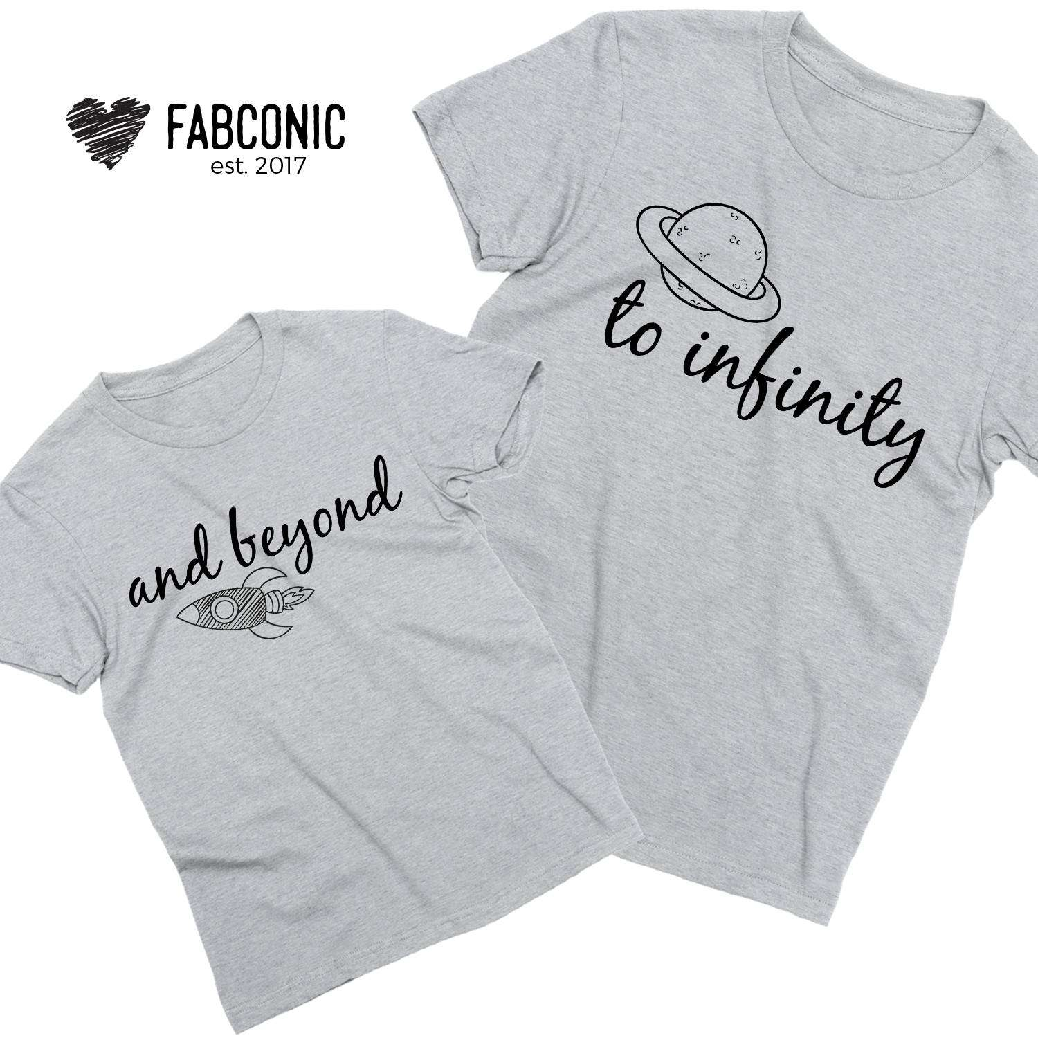 son gift dad daughter To Infinity and Beyond matching t-shirt set mother