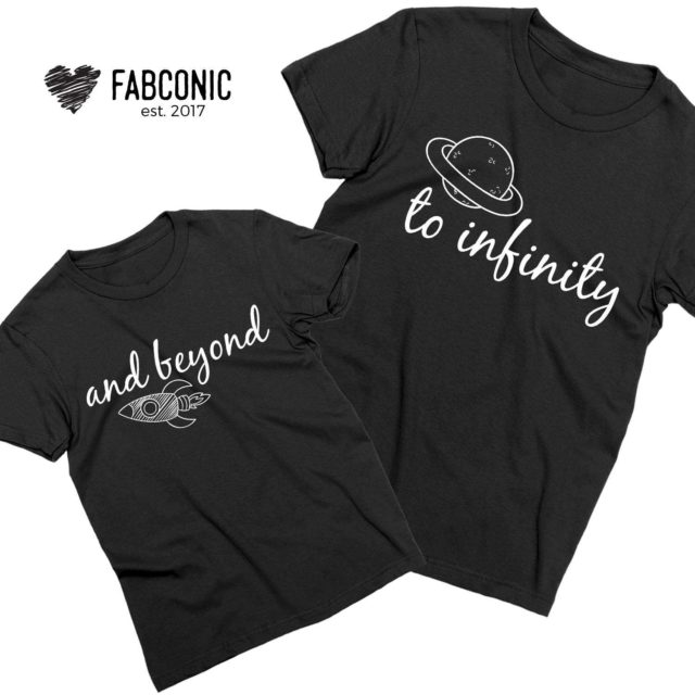 Father Daughter Matching Shirts, To Infinity and Beyond, Family ShirtsFather Daughter Matching Shirts, To Infinity and Beyond, Family Shirts