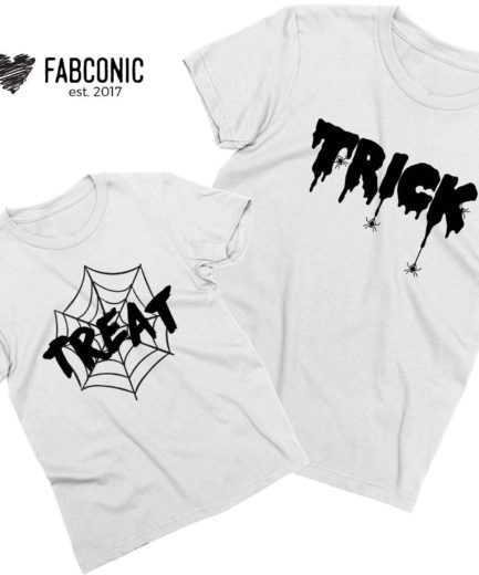 Matching Family Halloween Shirts, Trick, Treat, Funny Halloween Family Shirts