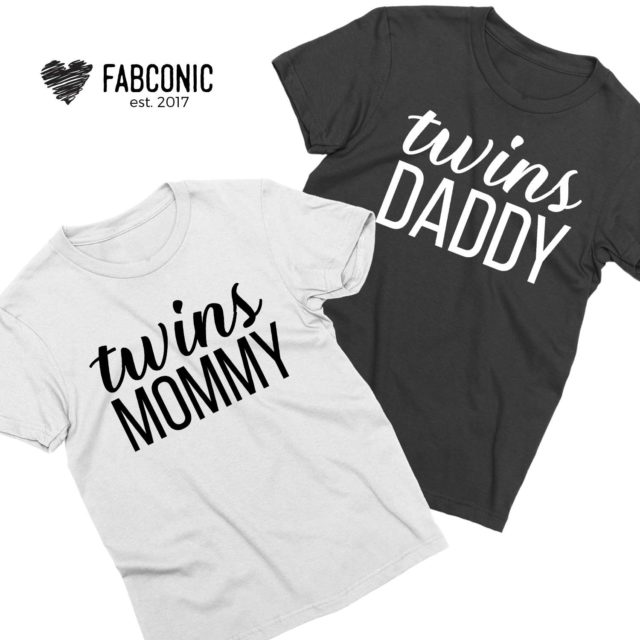 Twins Mommy Twins Daddy, Couple Shirts, Family Shirts
