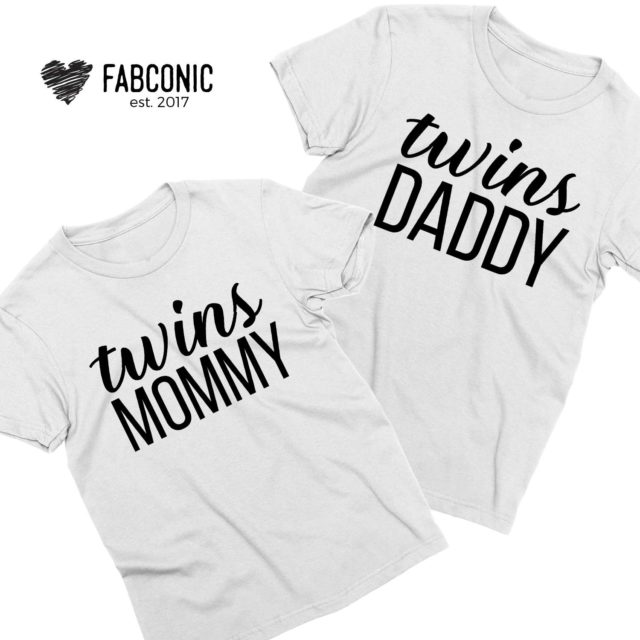 Twins Mommy Twins Daddy, Couple Shirts, Twins Parents Shirts