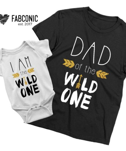 Wild One Birthday Shirts, Dad of the Wild One, I am the Wild One Shirt