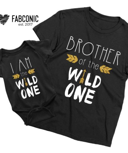 Brother Sister Wild One Shirts, I am the Wild One, Family Shirts