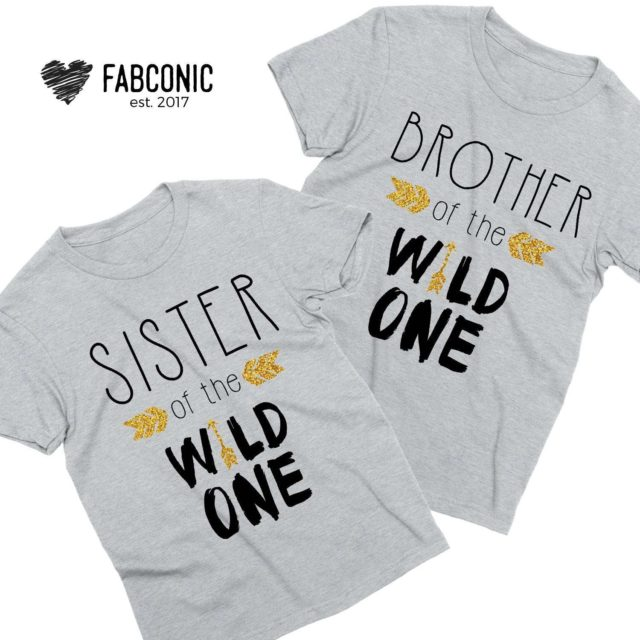 Funny Brother Sister Shirts, Wild One Shirts, Family Shirts