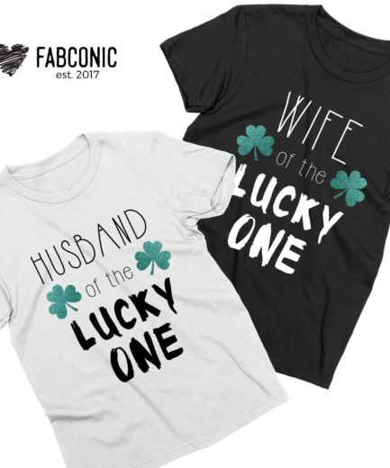 St Patricks Day Couple Gift, Wife of the Lucky One, Husband of the Lucky One