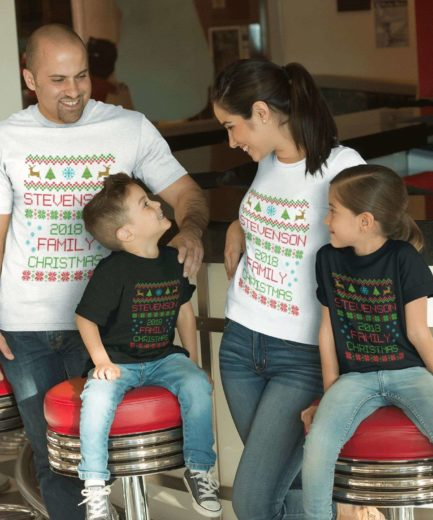 Christmas Family Shirts, Custom Family Name Shirts, Gift for Christmas