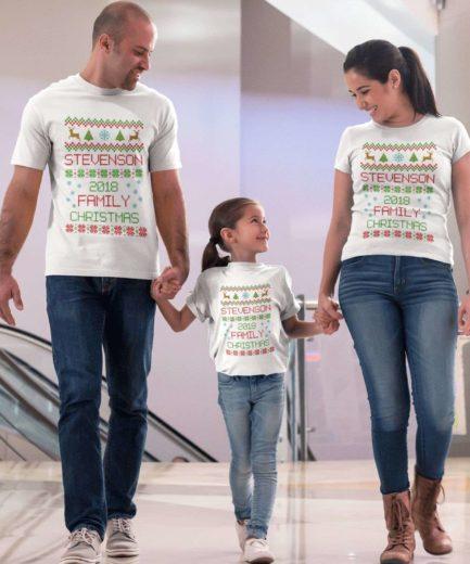 Custom Name Christmas Shirts, Matching Family Shirts, Christmas Gift