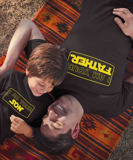 Funny Father Son Shirts, I am Your Father, I am Your Son, Father & Kid Shirts