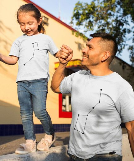 Big Dipper Little Dipper Matching Shirts, Father & Kid Outfit, Father's Day Gift