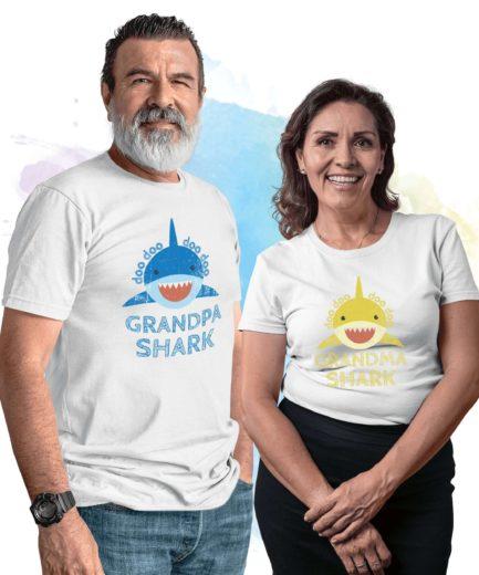Grandpa Shark Grandma Shark, Family Sharks, Family Shirts