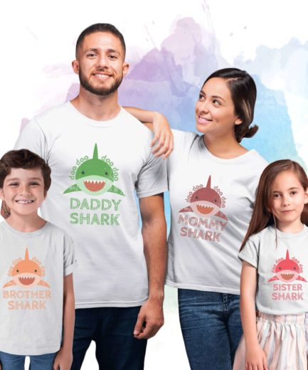 Baby Shark Doo Doo Shirt, Daddy Mommy Baby Shark, Family Shirts