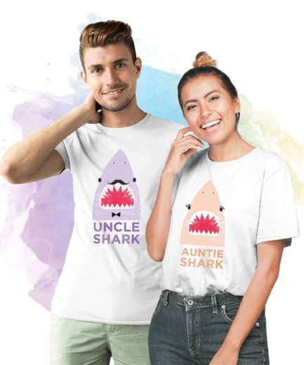Baby Shark Aunt Shark Uncle Shark, Family Sharks, Family Shirts