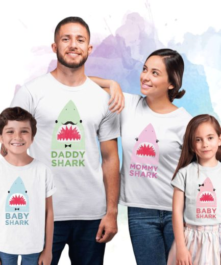 Matching Shark Shirts, Baby Shark Daddy Shark Mommy Shark, Family Shirts