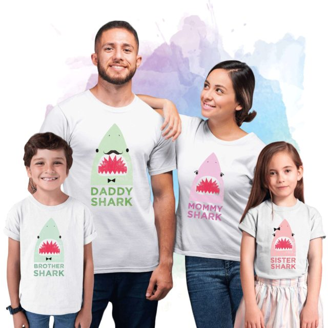 Matching Shark Shirts, Baby Shark Daddy Shark Mommy Shark, Family Shirts