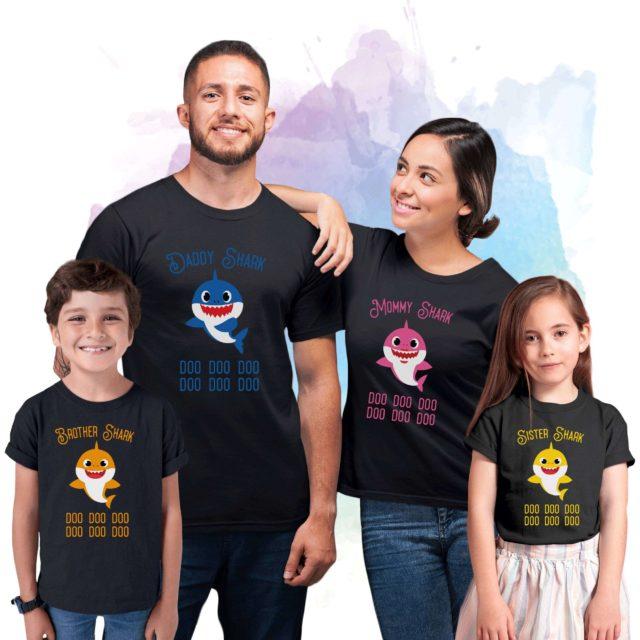 Mommy Daddy Baby Shark, Dancing Shark, Family Sharks, Family Shirts