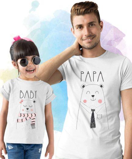 Papa Bear Shirt, Baby Bear, Mama Bear, Matching Family Shirts, Father & Kid Shirts