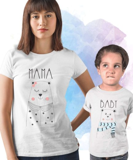 Mama Bear Baby Bear Shirts, Matching Mother & Kid Shirts, Bear Family Shirts